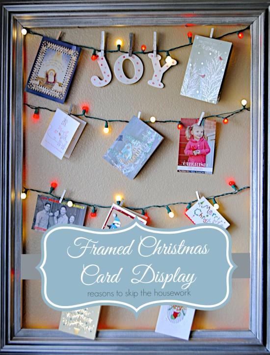 holiday lights card display reasons skip housework