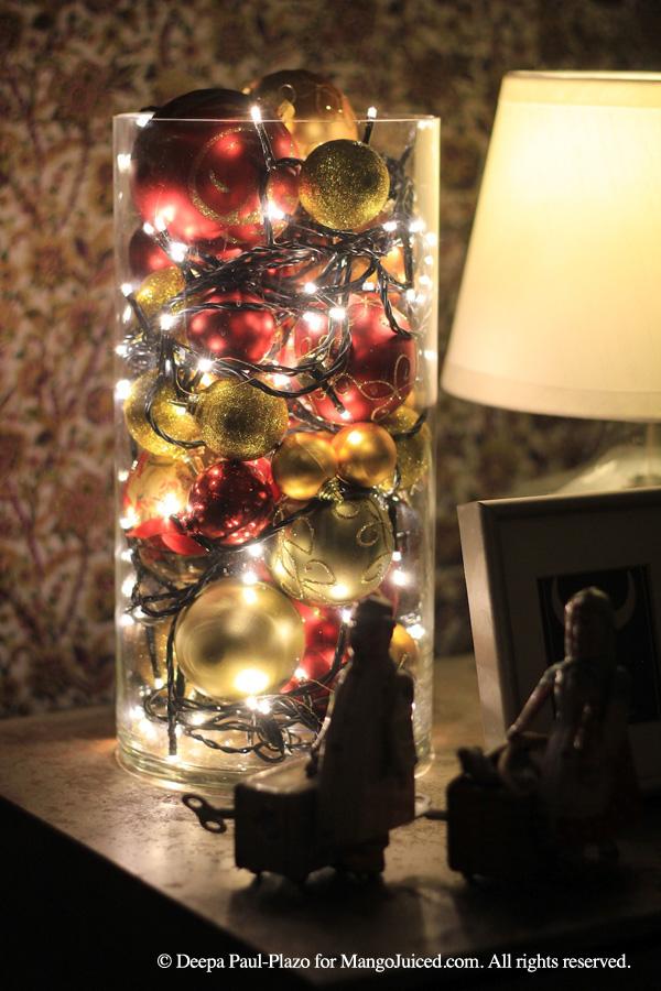 holiday lights ornamental centrepiece mango juiced