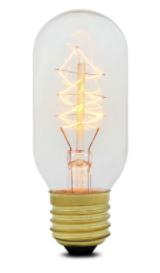 tube carbon filament squirrel cage edison bulb