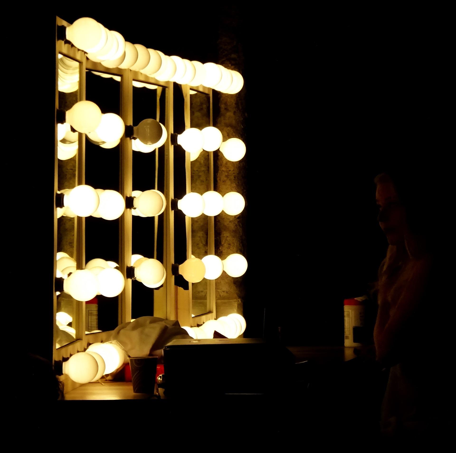 edison bulbs home decor vanity mirror