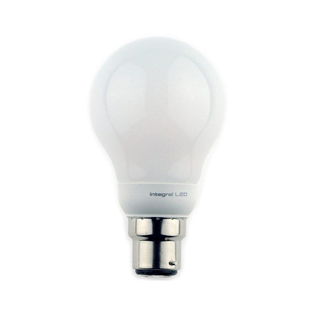 5.5watt GLS LED BC B22 Bayonent Cap Warm White Equivalent To 40watt