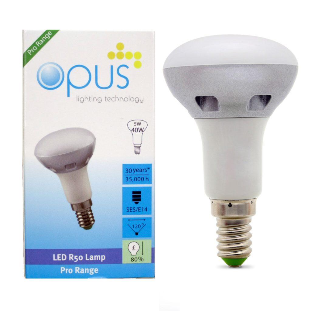 5watt R50 Reflector LED SES E14 Small Screw Cap Warm White Equivalent To 40watt