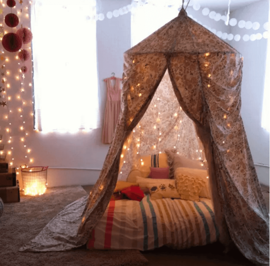holiday fair lights year round cozy space fort