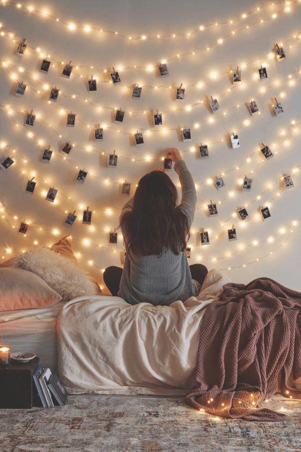 holiday fair lights year round memory wall