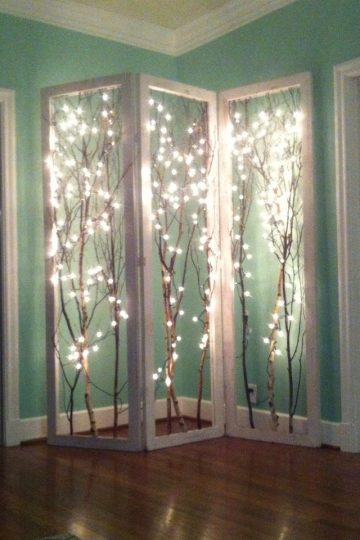 holiday fair lights year round room divider