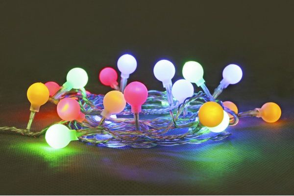 24v 10L Multi Colour Frosted Ball String Lights With Transformer Included