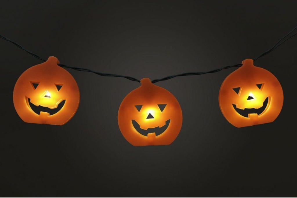 Halloween Battery Operated LED 10 X Pumpkin String Light Set