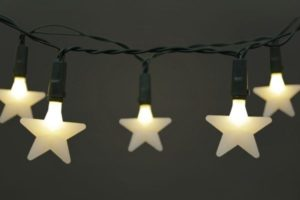 Battery Operated LED 20 X Warm White Frosted Star Light Set