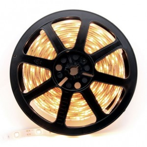 5 Metre Warm White Colour Flexible LED Strip 60 LED Chips Per Metre 24watt