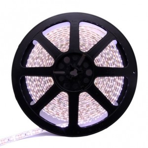 5 Metre White Colour Flexible LED Strip 60 LED Chips Per Metre 24watt
