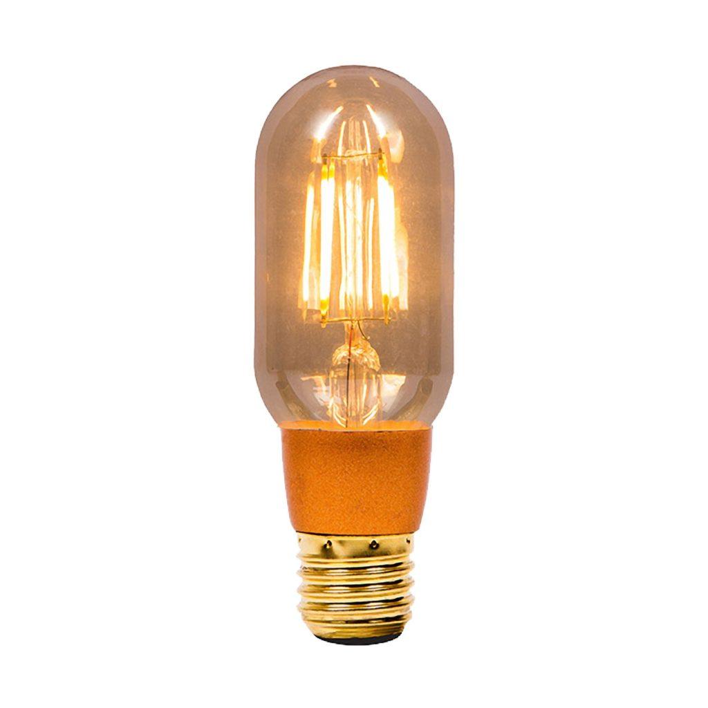 4watt Tubular T45 LED ES E27 Screw Cap Very Warm White Gold Finish Equivalent To 30watt Dimmable