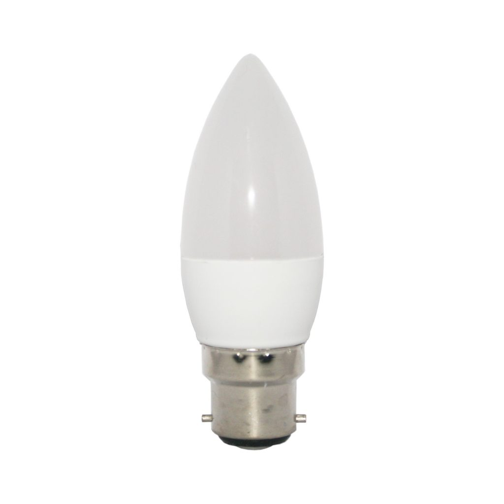 5watt Candle LED BC B22 Bayonet Cap Warm White 3 Step Dimming - Standard Light Switches Only - NOT Dimmers