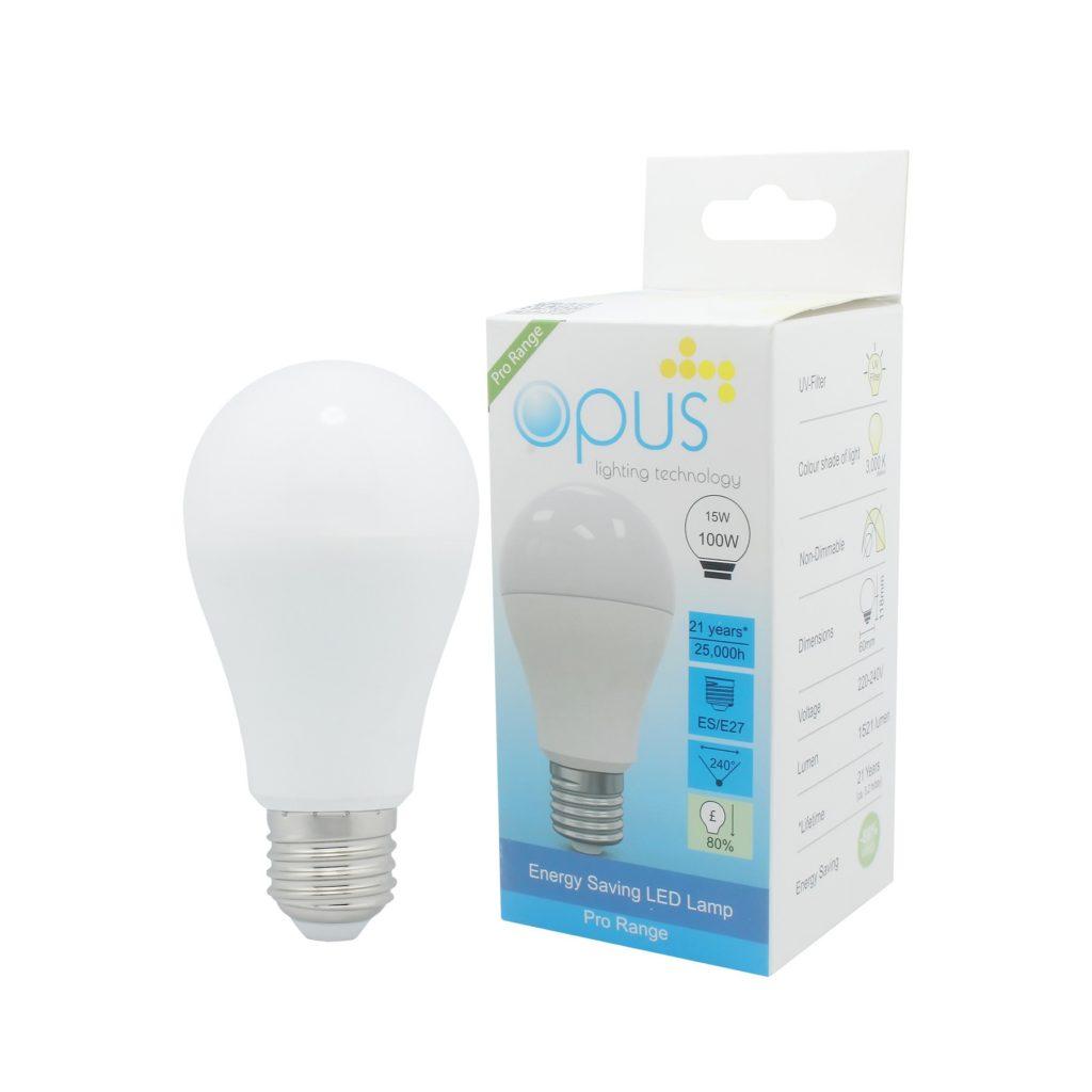 15watt GLS LED ES E27 Screw Cap Warm White Equivalent To 100watt