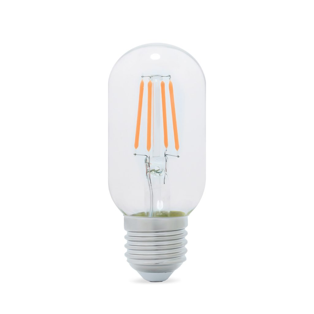 5watt Tubular T45 LED ES E27 Screw Cap Very Warm White Clear Equivalent To 60watt Dimmable