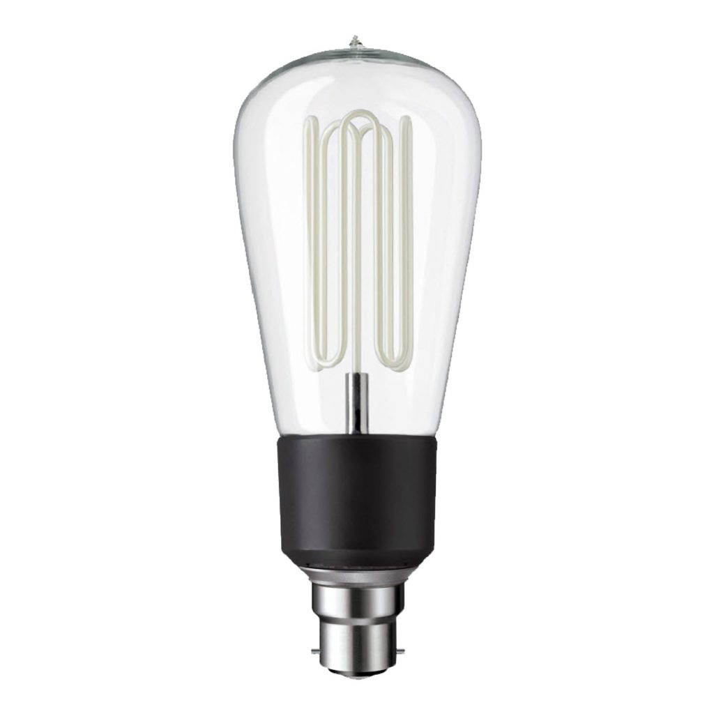 7.7watt BC B22 Bayonet Cap Clear Squirrel Cage Extra Warm White Dimmable