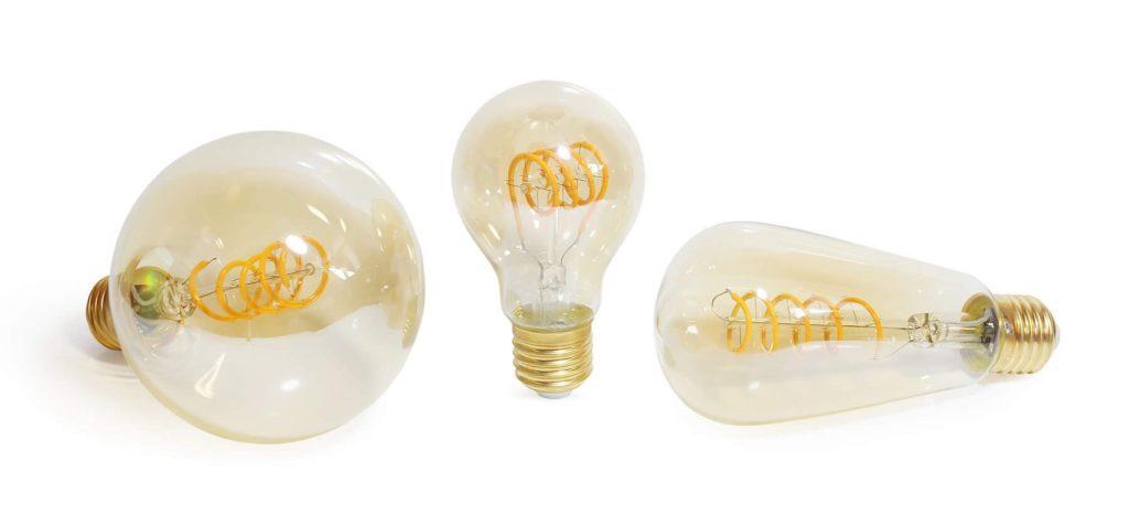 castello style led filament bulbs