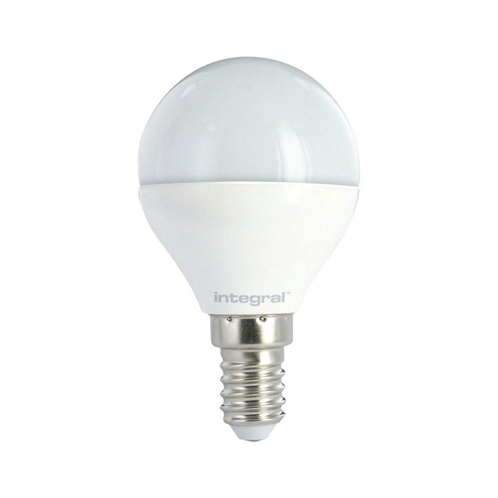 5.6watt Golfball LED SES E14 Small Screw Cap Opal Warm White Equivalent To 40watt Dimmable