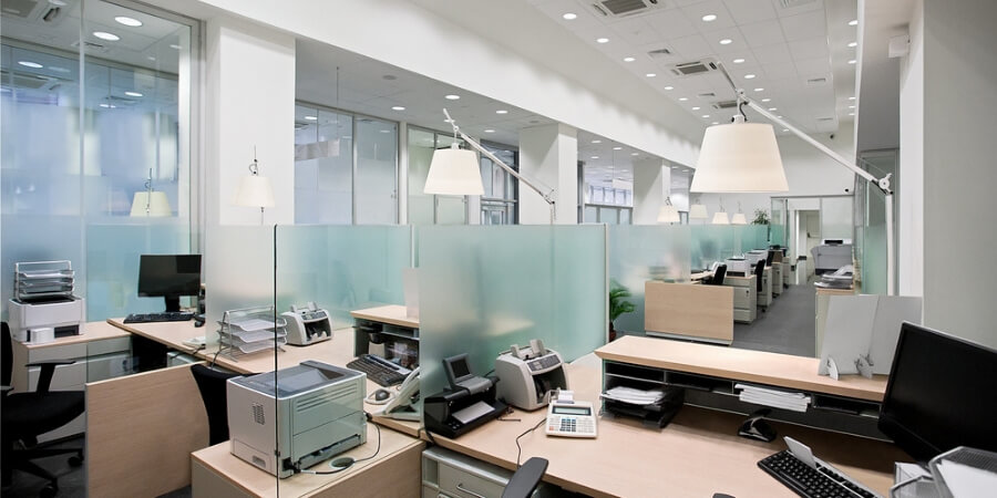 office lighting ideas layering light commercial