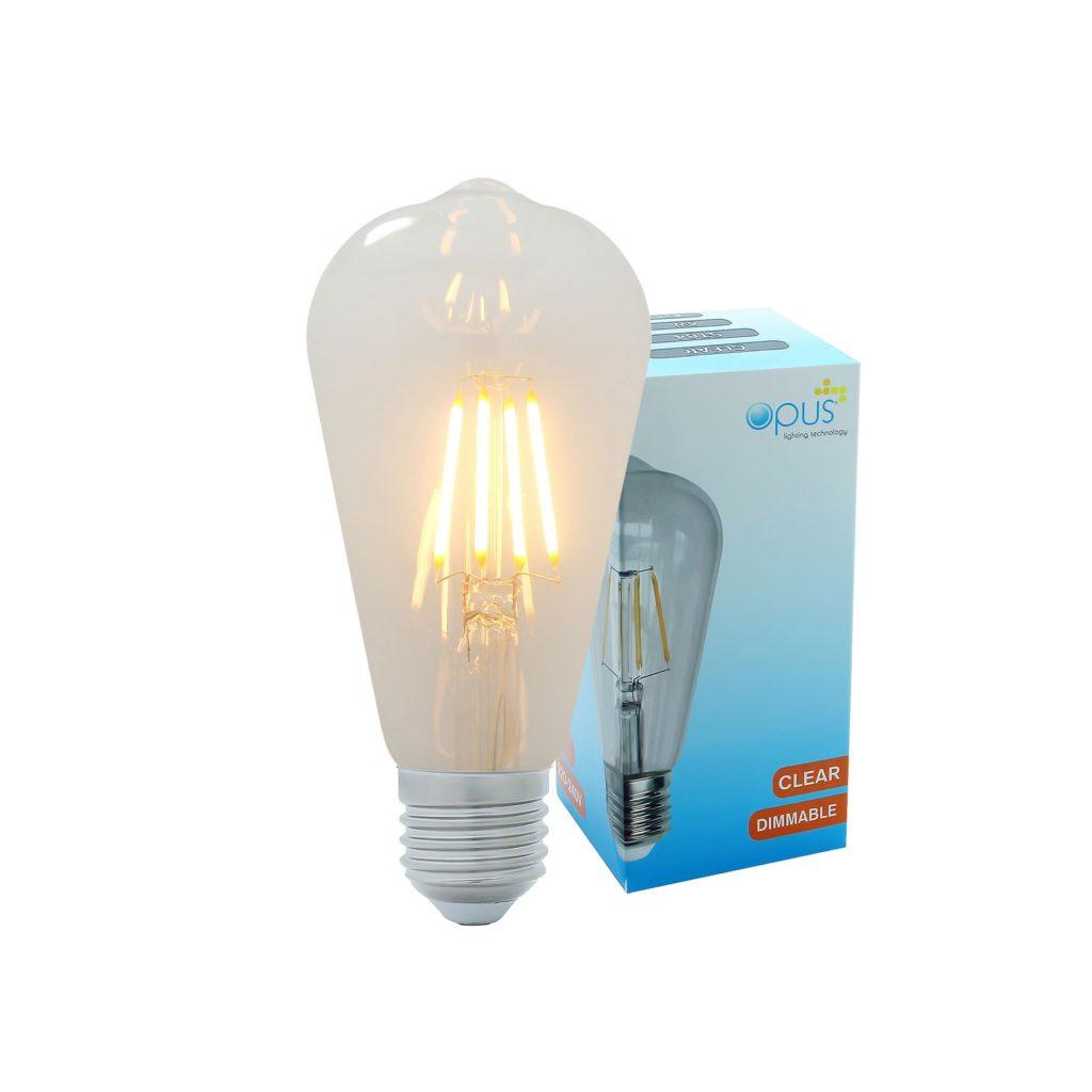 5watt Pear LED ES E27 Screw Cap Very Warm White Clear Equivalent To 60watt Dimmable