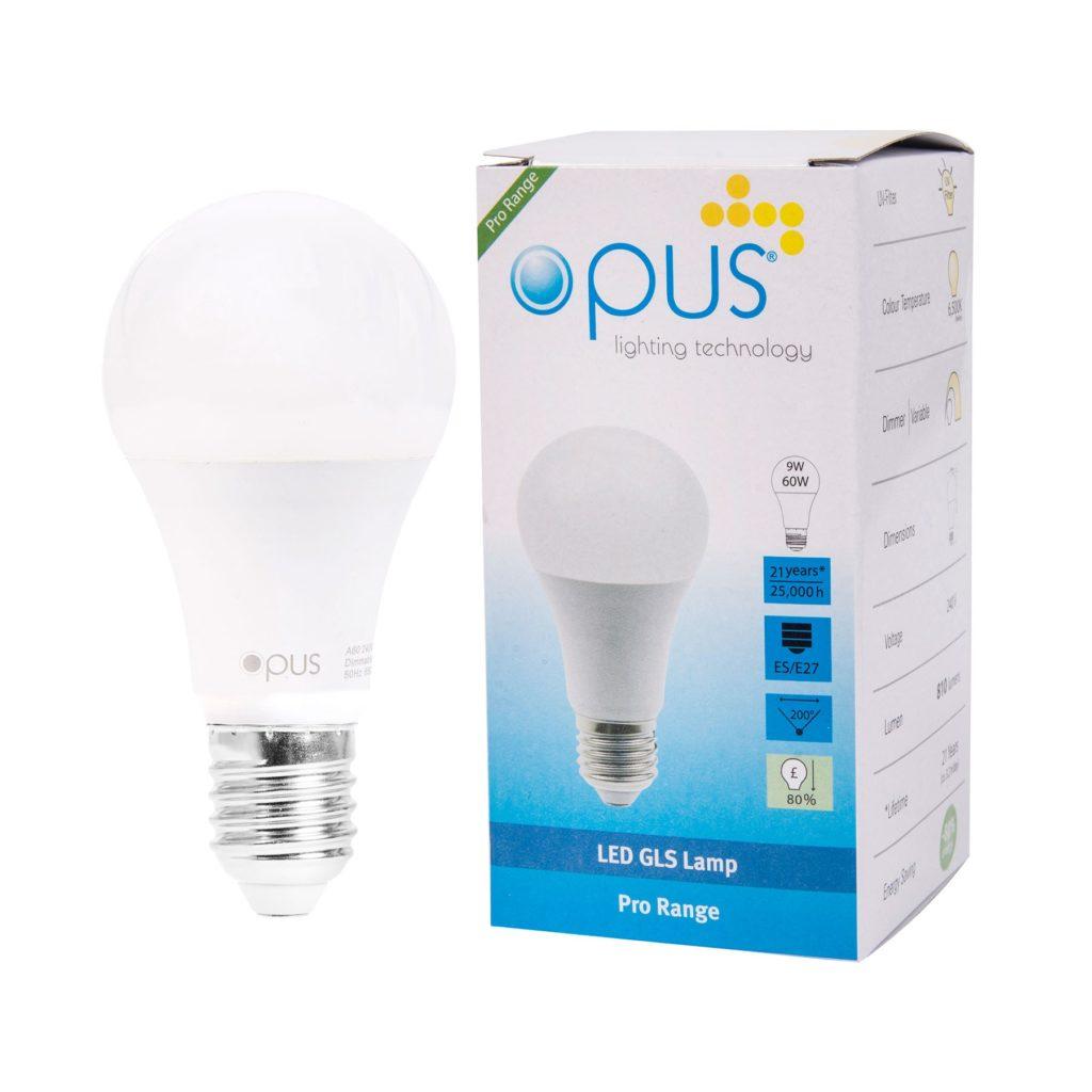 9watt GLS LED ES E27 Screw Cap Daylight Equivalent To 60watt Dimmable