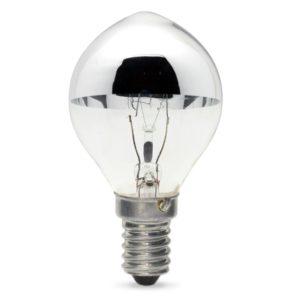 40watt SES E14 Small Screw Cap Crown Silver Lemon Lamp