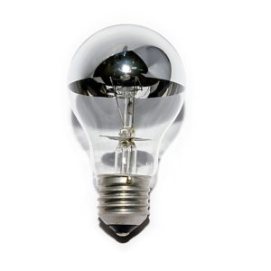 60watt ES E27 Screw Cap Crown Silver