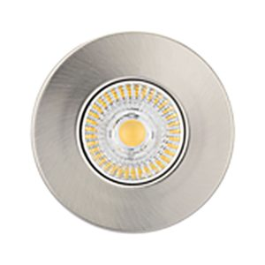 Firestay Satin Nickel Downlight With GU10 Lampholder