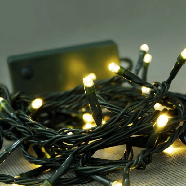 Battery Operated 48 LEDs Warm White String Lights