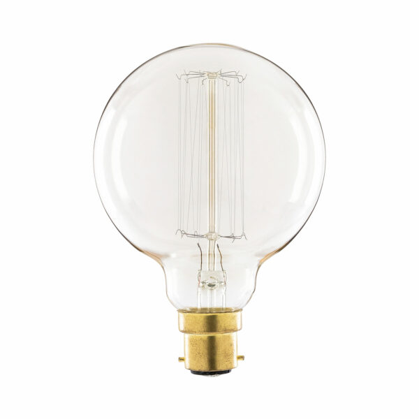 60watt BC B22 Bayonet Cap 95mm Globe Gold Filament