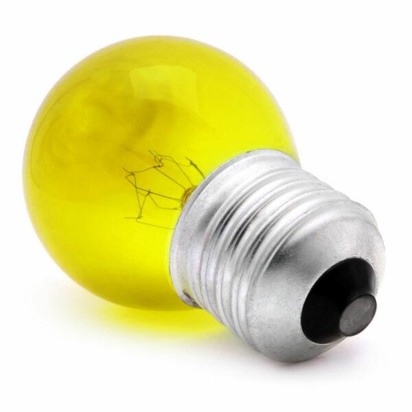 15watt Golfball ES E27 Screw Cap Translucent Yellow