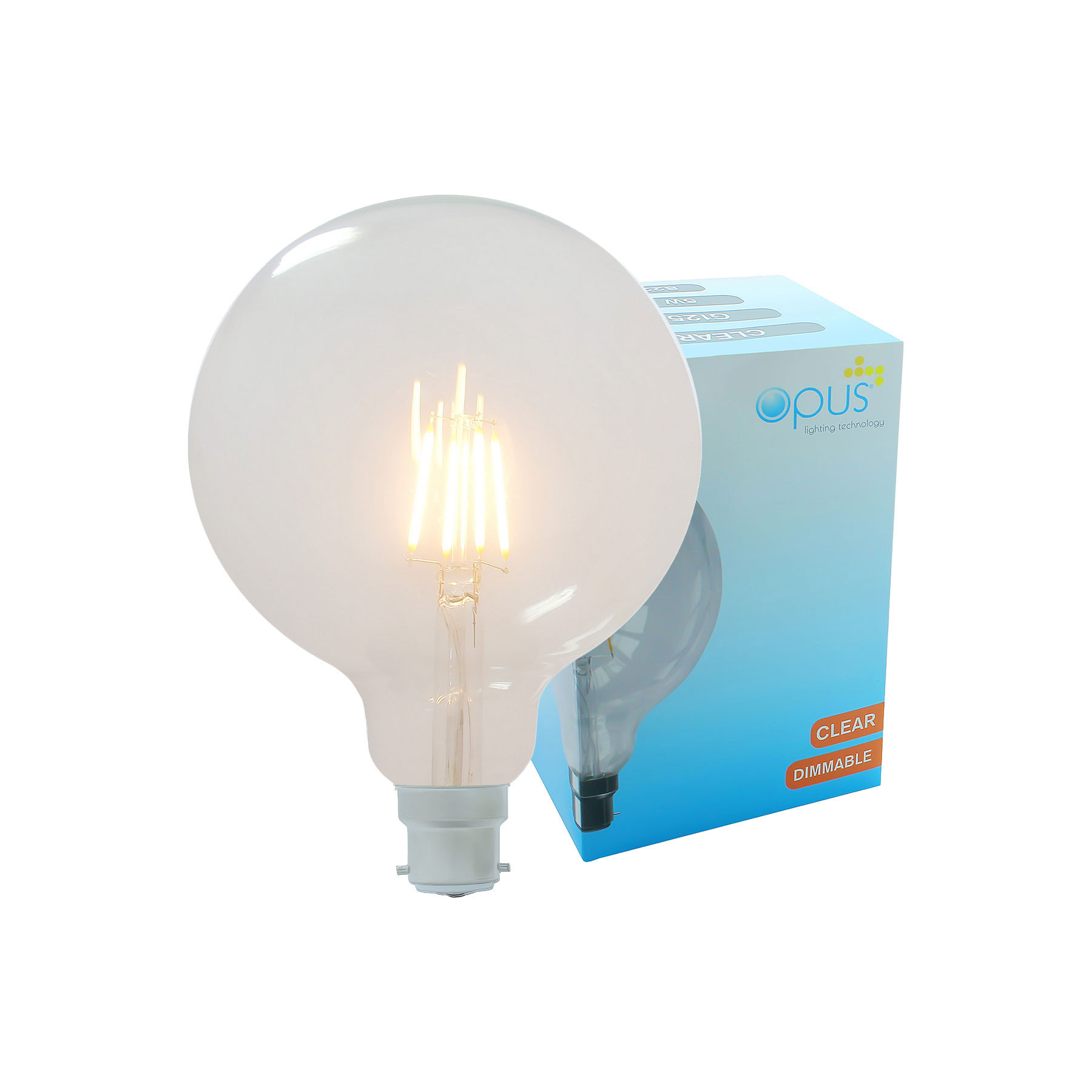 Long Life Clear Eco Halogen Light Bulbs Dimmable Energy Saving Lamps Pack 5 x Opus Candle BC B22 Bayonet Cap Halogen Bulb//Light Bulbs 40 watt = 60 watt Lightbulb