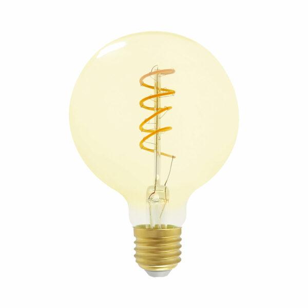 5watt G95 Globe LED ES E27 Screw Cap Very Warm White Gold Finish Dimmable