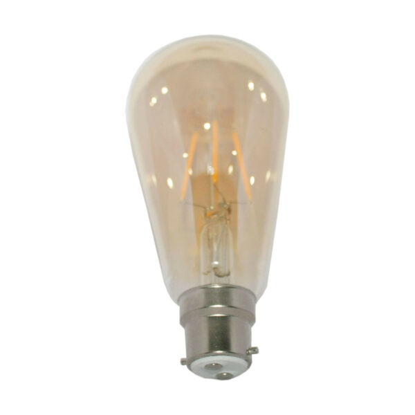 5watt Pear LED BC B22 Bayonet Cap Very Warm White Gold Finish Equivalent To 60watt Dimmable