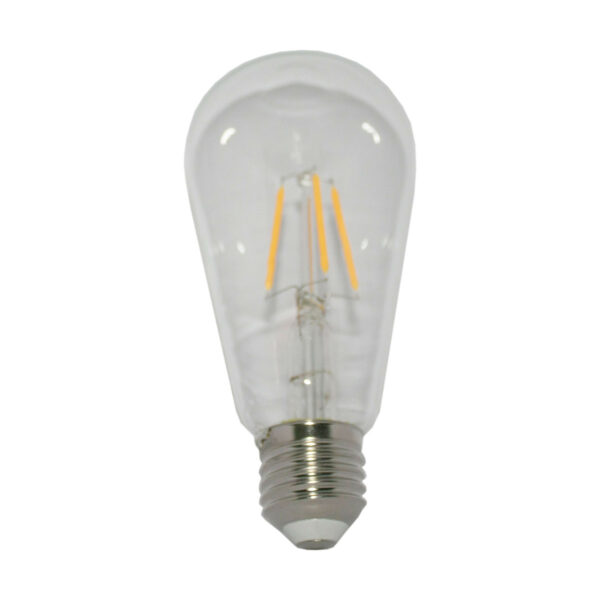 5watt Pear LED ES E27 Screw Cap Very Warm White Clear Equivalent To 60watt Dimmable