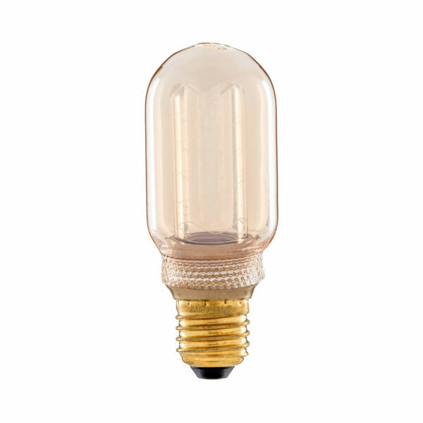 3.5watt Tubular T45 LED ES E27 Screw Cap Very Warm White Gold Finish Dimmable