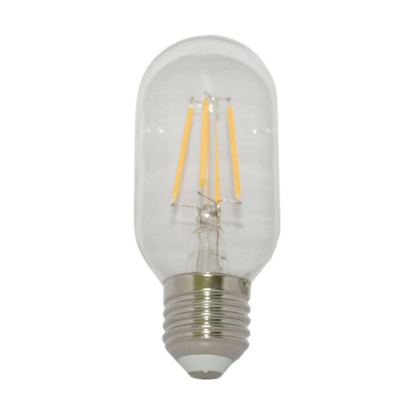 5watt Tubular T45 LED ES E27 Screw Cap Very Warm White Clear Equivalent to 60watt Dimmable