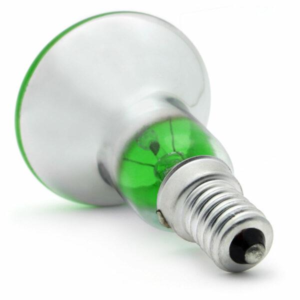 R50 25watt SES E14 Small Screw Cap Green
