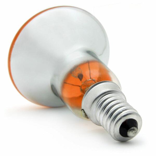 R50 25watt SES E14 Small Screw Cap Orange