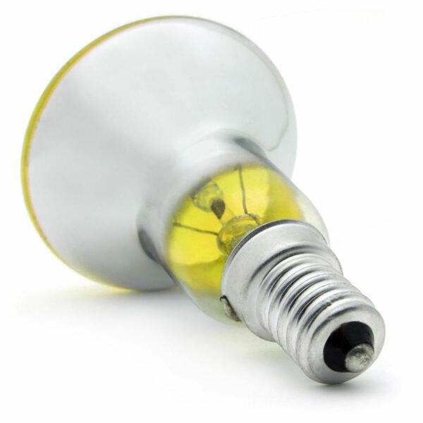 R50 25watt SES E14 Small Screw Cap Yellow